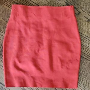 New Akira Red Bodyfit Stretchy Skirt Small
